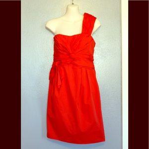 Nanette Lepore One Shoulder Knot So Fast Dress 8